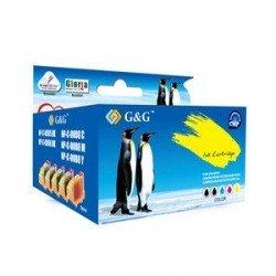 Pack de 5 cartouches PREMIUM de marque G&G compatibles CANON PGI525/CLI526