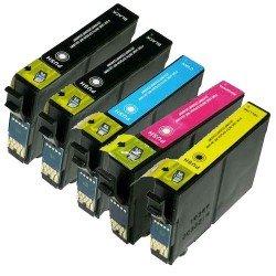 PACK de 5 GENERIQUES Epson C13T12854010 / T1285