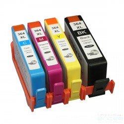 Pack de 4 cartouches Compatibles HP364XL (Bk+C+M+Y)