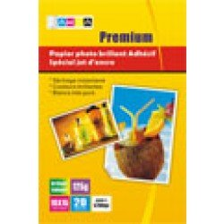Papiers photo brillant ADHESIF - A6 - 20 feuilles - 120g